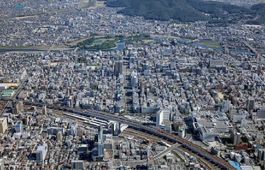 岡山市の交通の結節点