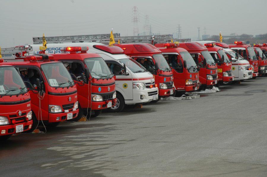 消防車救急車